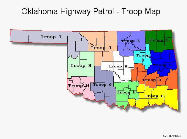 Highway Patrol OK The RadioReference Wiki - Oklahoma highways map