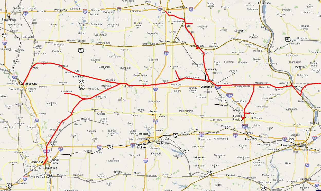 Iowa Railroads Scanner Frequencies And Radio Frequency Reference - Bnsf railway us map