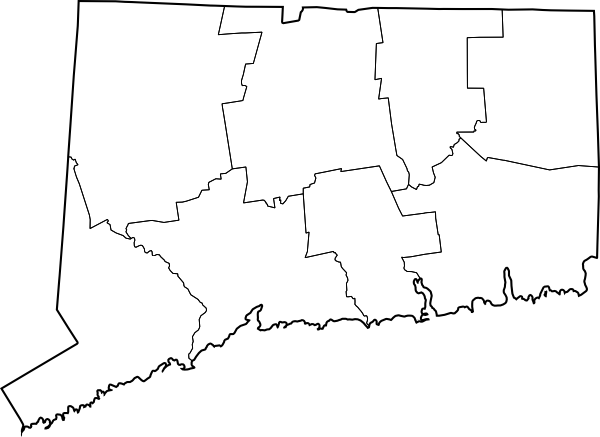 Connecticut County Map Blank.png
