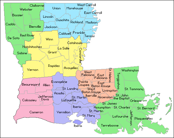 File List The Radioreference Wiki: Map Of New Orleans Parishes At Usa Maps