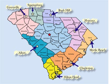 Aiken South Carolina Map