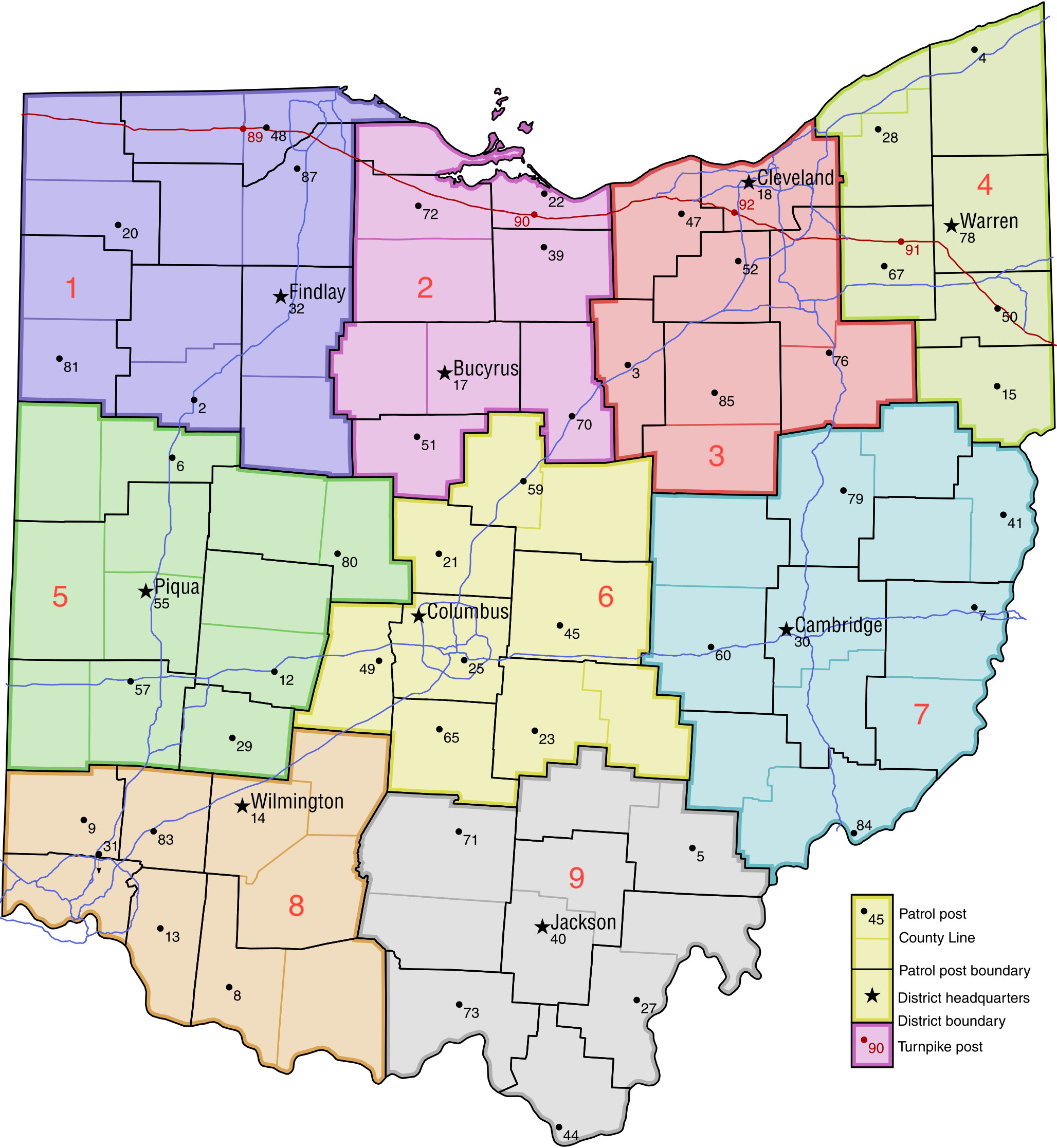 FileOhio Highway Patrol Mappng The RadioReference Wiki