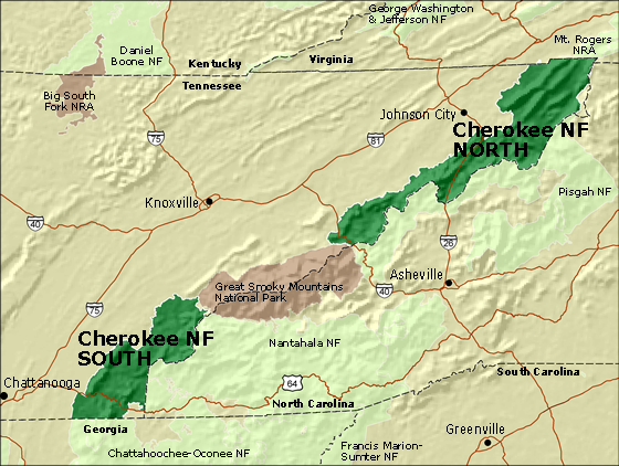 US Forest Service - Cherokee National Forest (TN) - The