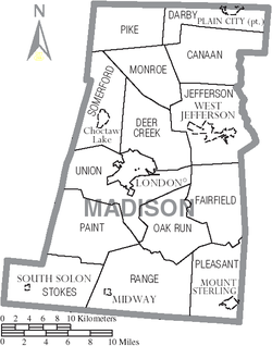 Madison County Ohio Map.png