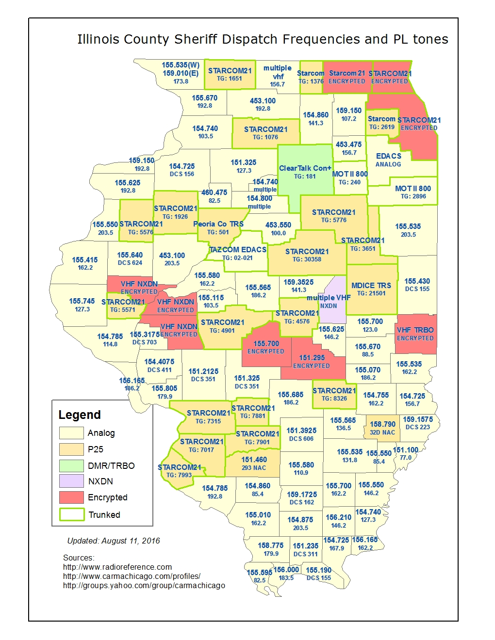 FileIL County Sheriff Dispatch Frequencies Mapjpg The - Illinois county map
