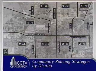 Champaign PD Beat Map presented in the June 26, 2007 Champaign City Council Meeting