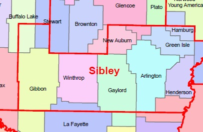 sibley county Sibley county region nine commissioners: doug munsch, cities under 10,000 jim swanson, treasurer, county commissioner john pioske, township board.