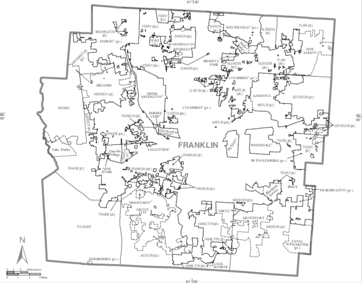Franklin County Ohio Map.png