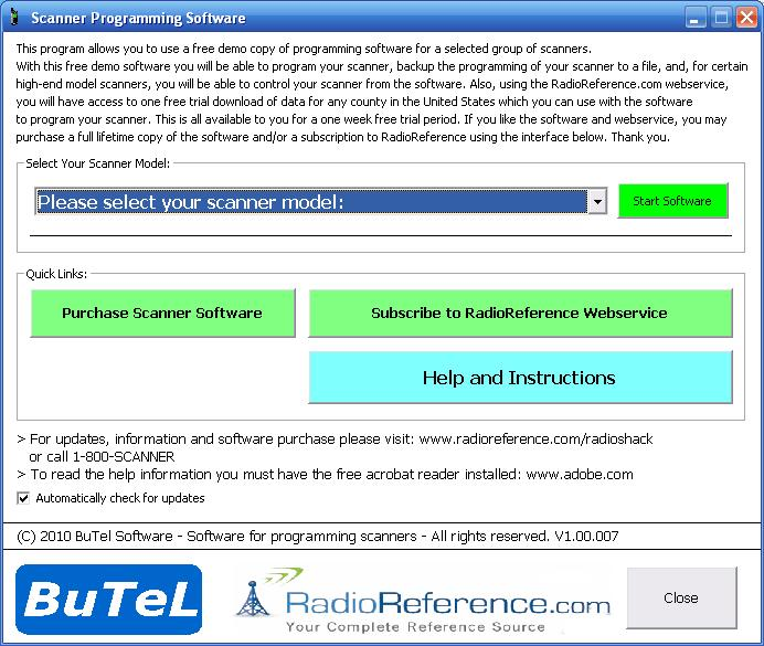 Radio Shack Programming Software Free Trial - The RadioReference Wiki