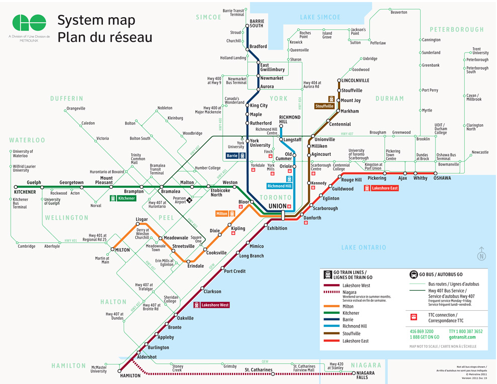 Metrolinx go transit maps and system description the system mapg ccuart Choice Image