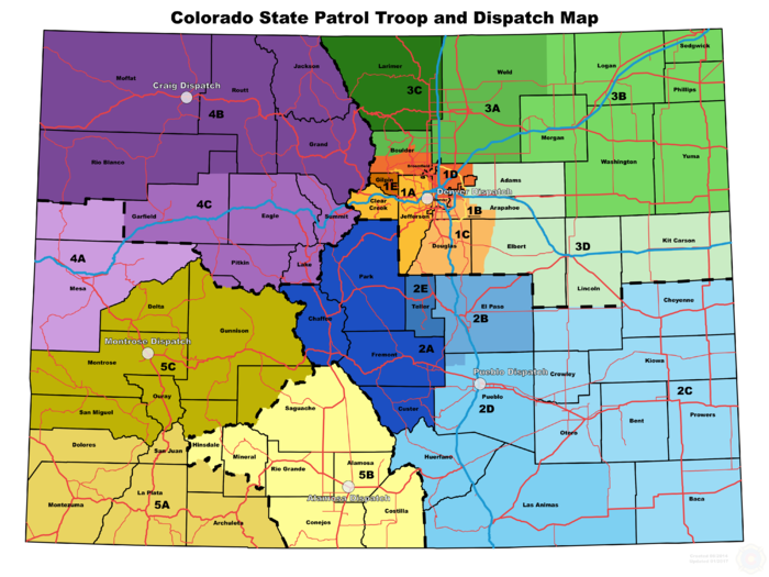Colorado State Patrol CO The RadioReference Wiki - Colorado state map