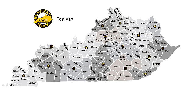 Kentucky State Police Post Areas