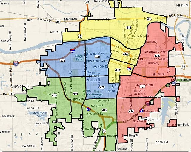 Topeka KS Zone Alignment Map