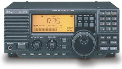 Icom R-75 Receiver - Click image to view in full